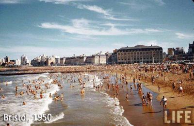 Playa Bristol, 1950.