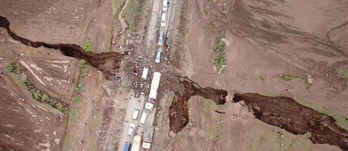 La grieta en África, vista desde el aire.